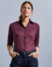 Ladies` 3/4 Sleeve Fitted Stretch Shirt
