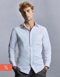 Men`s Long Sleeve Tailored Coolmax® Shirt